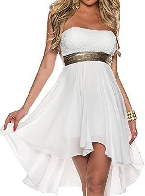 SaiDeng Mujeres Lentejuelas Sin Tirantes Vestido De Coctel Encanto Vestido Irregular Fiesta Vestidos