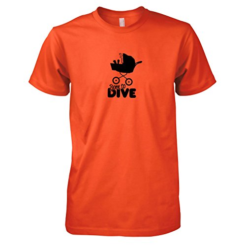 TEXLAB - Born to Dive - Herren T-Shirt Orange