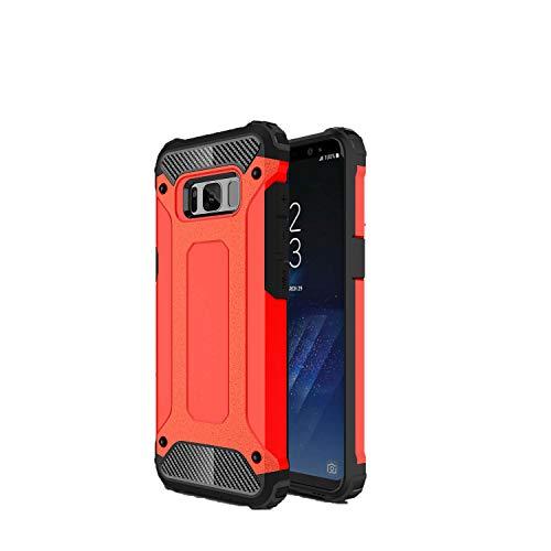 SsHhUu Funda Galaxy S8+ 2017, 2 in1 TPU + PC Doble Capa Protección A Prueba de Golpes Antideslizante Pesada Híbrida Resistente Protectora y Robusta Funda para Samsung Galaxy S8+ 2017 (6.2') Rojo