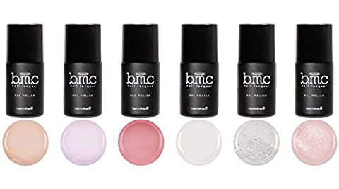 BMC Super Doux 6 pieces Scintillant Pur Pastel Vernis À Ongles Gel Collection - I Do - I Do - Master Set, Small