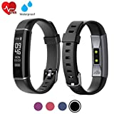 acti Y-Fit Band Activity Fitness Tracker OLED Screen with Heart Rate, Step & Sleep Tracker, IP67 Waterproof, Pedometer Sports Watch for Men, Women, and Kids (Black)
