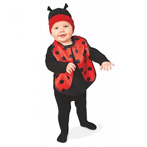 Baby-Set Käfer Mütze mit Lätzchen Marienkäfer Kleiner Krappler Kinder (Ideen Marienkäfer Baby Kostüm)