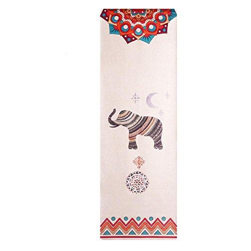 HZJ Yoga Starter Kit-Dauerhafte Yoga Matte Eco Freundliche Non Slip Yoga Matte, NatüRliche Bequeme Yoga Und Pilates Gummimatte, Elephant -