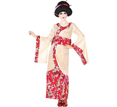 (ATOSA 56478 Kostüm für die Dame Costume Geisha XXL, Beige/Rot)