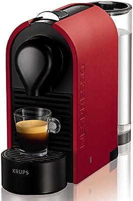 Nespresso U XN 2505, cafetera de cápsulas, 19 bares, Krups, depósito modular, táctil, automática, color mat red