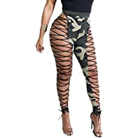GAOWF Pantalones De Imitación De Cuero Para Mujer Pantalones De Cintura Alta Para Club Nocturno,Green,M