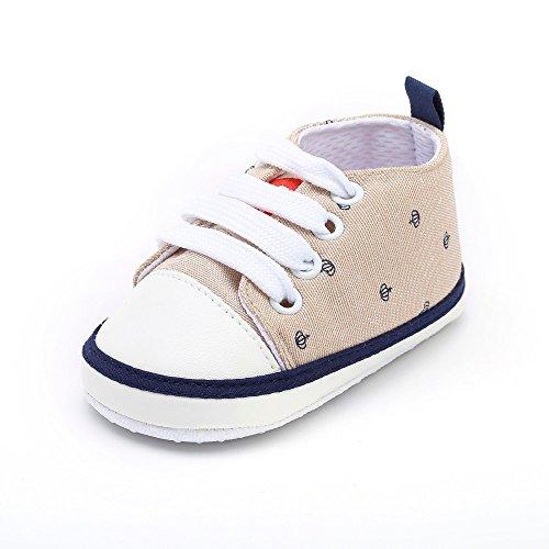 LHWY Lauflernschuhe Mädchen Neugeborenes Schnürschuhe Kleinkind Print süße Weiche Sohle Freizeitschuhe Flache Schuhe für Baby Kind Jungen Mädchen