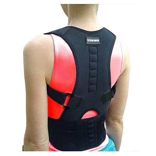 The Healing Universe - Kyphosis Bandage - Zur Geradehaltung von Rücken und Schultern - Beste Rückenunterstützung - Lindert Schmerzen der Wirbelsäule - gegen Haltungsschäden und Ermüdung (Black, M) -