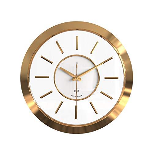 YONGJUN Horloge Murale À Quartz De 16 Pouces, Radio-réveil, Temps De Trajet Silencieux Précis, Temps De Correction Automatique, Adapté Au Salon, Cuisine, Chambre À Coucher, Bureau, Or Rose