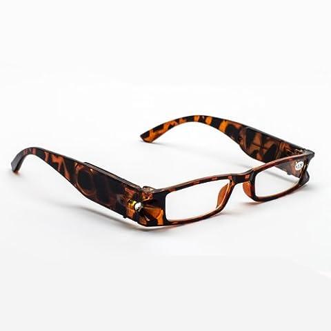 Lighted Reading Glasses Tortoise (+1.75)