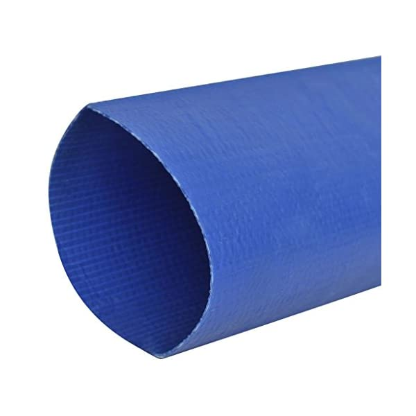 "mewmewcat Fire Hose Flat Water Discharge Hose 50 m 2"" PVC Blue 3"