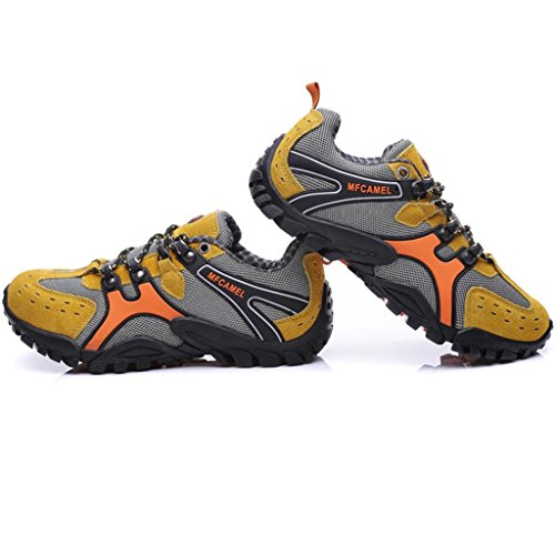 SAGUARO® Hike Trekking Wanderhalbschuhe Outdoor Sport Wander Schuhe Wasserdicht Walking Wanderstiefel Boots für Herren Damen 39-44 Gelb