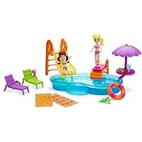 Mattel Polly Pocket BCY62 - Set di gioco, festa in piscina, incl. due bambole e molti accessori