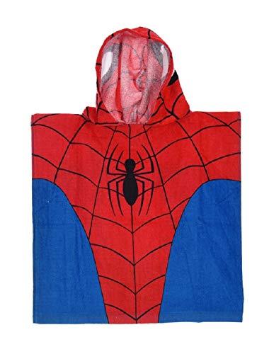 Spider-Man Capa baño tompe-oeil Capucha niño Azul/Rojo