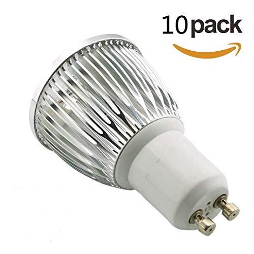 Ossun 10 W GU10 LED-Spots, superhell, Warmweiß / Tageslicht / Kühlweiß, 6 Stück, cool white, GU10, 6.00 wattsW 230.00 voltsV - Cool White High Output