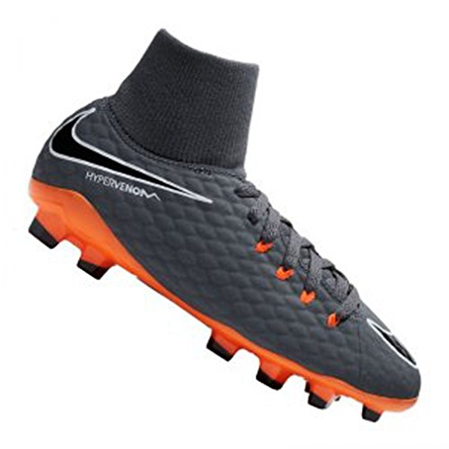 Nike Unisex-Kinder Jr Phantom 3 Academy DF FG Fußballschuhe, Grau (Dark Greytotal Orangewhite 081), 36.5 EU (Fußball Schuhe Jungen Nike)