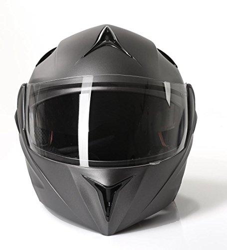 Klapphelm Integralhelm Motorradhelm CMX Prometheus matt grau Größe M
