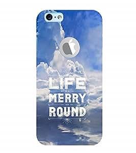 Nextgen Designer Mobile Skin for Apple iPhone 6 (Logo View Window Case) (Life Live Life happy Life Go Around)