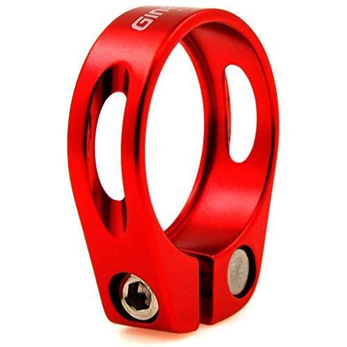 Emma Rojo 34,9mm tija de sillín Abrazadera aleación de Aluminio MTB Bicicleta sillín de Ciclismo