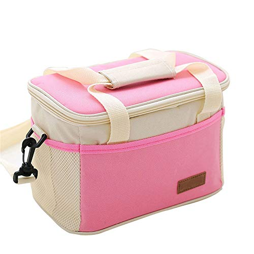 Rich overnight Oxford Isolierte Lunch Bags for Women Men Kids Thermal Food Picknick Bag Bento Box Casual Portable Cooler Bags,Rosa
