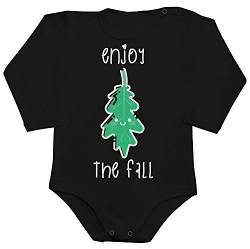 Enjoy The Fall Cute Autumn Leave Baby Romper Long Sleeve Bodysuit Babyspielanzug XX-Large
