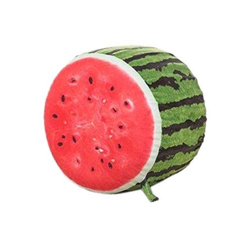 Karikatur-Plüsch-aufblasbares Hocker Tragbare Falten, Wassermelone