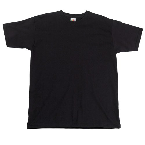 Fruit of the LoomHerren T-Shirt Schwarz Schwarz