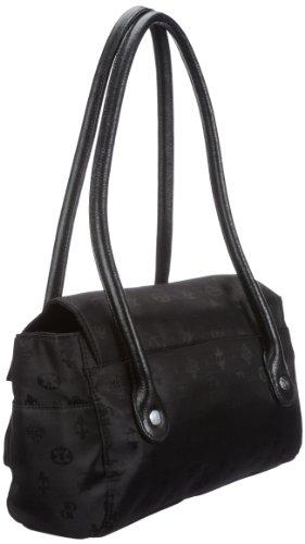 Poodlebags Club - united - Dijon 3CL0912DIJOB, Borsa a spalla donna, 34 x 13 x 20 cm (L x A x P) Nero (Schwarz (black))