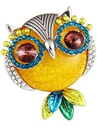 0d30fa8a38b1 Gysad Broche mujer Forma de búho Broches de bisuteria baratos Decoración de  diamantes de imitación Broches para ropa mujer Adecuado…