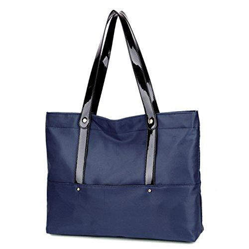 MeCooler Designer Handtasche Damen Umhängetasche Kuriertasche Messenger Bag Vintage Taschen Mädchen Weekender Reisen Retro Schultertasche für Laptop Reisetasche Nylon Blau