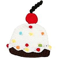 DELEY Unisex Bambino Dolce da Dessert Torta di Cappello all'Uncinetto