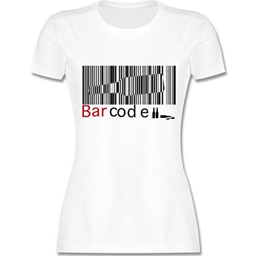Sprüche - Barcode - tailliertes Premium T-Shirt mit Rundhalsausschnitt für Damen Weiß