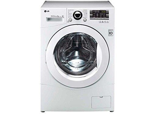 LG F 14A8 TDA1 Waschmaschine mit XXL-Bullauge/A+++ / Frontlader / 8 kg/weiß / 1400 U/min/Vollwasserschutz / 14 Programme / 156 kWh/Jahr/Waschvollautomat
