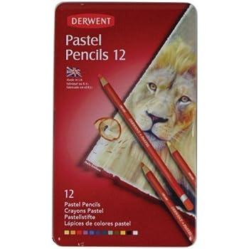 Derwent Crayons pastels Boîte métal de 12