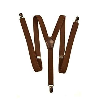 Hosenträger mit 3 Clips - Modell 'Skinny' 2cm. Braun
