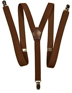 Hosenträger mit 3 Clips - Modell 'Skinny' 2cm