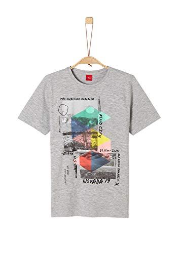 s.Oliver Jungen 62.906.32.5683 T-Shirt, Grau (Grey Melange 9400), 164 (Herstellergröße: L/REG)