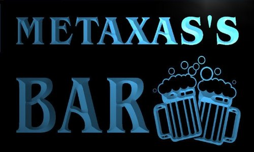 w067027-b-metaxas-name-home-bar-pub-beer-mugs-cheers-neon-light-sign