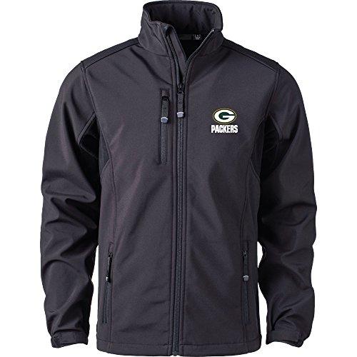 Dunbrooke Apparel NFL Green Bay Packers Herren Softshell Jacke, 2Stück, Schwarz