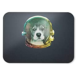 BLAK TEE Little Beagle the Space Puppy Mouse Pad 18 x 22 cm in 3 Colours Black