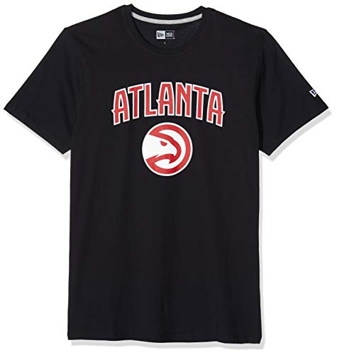 New Era Atlanta Hawks T-Shirt Homme, Noir, FR (Taille Fabricant : XS)