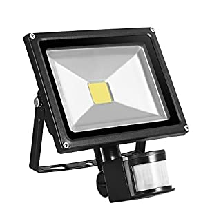 LED Flood Light [By XFORT] Outdoor Security COB Light, Super Bright LED Motion Sensor [PIR] Flood Light, An Energy Efficient Way to Ensuring Your Home is Illuminated at time (20W COB LED Flood Light)