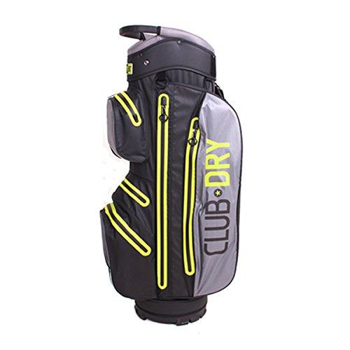 PINCUP Golf-Bag 14 Lime Star Grey- wasserdichte Golftasche drybag für Herren Damen- Trolley-Bag Wasserfeste Tasche Clubdry Waterproof Golfzubehör Golfausrüstung Cartbag Carrybag Golf-Schlägertasche