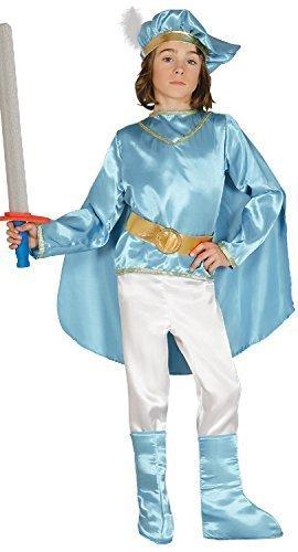 Fancy Me Kinder Jungen Kinder 5 Stück blau Fee Märchen Prinz Welttag des Buches Woche Rollenspiel Karneval Kostüm Verkleidung Outfit 3-9 Jahre - Blau, 5-6 ()