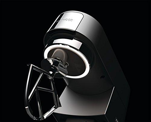 Kenwood Chef Titanium KVC7320S Küchenmaschine, 1.500 W, 4,6 l Füllmenge, 5-teiliges Patisserie-Set, 1,6 l ThermoResist Glas-Mixaufsatz, Rührschüssel-Innenbeleuchtung -