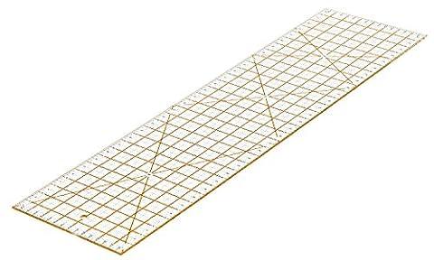 WINTEX Règle universelle 15 cm x 60 cm, transparente avec 2 ans de garantie satisfaction – règle pour cutter à roulette / règle pour patchwork
