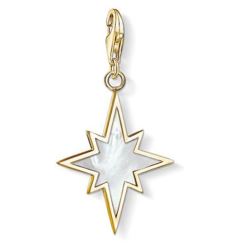 Thomas Sabo Damen-Anhänger Stern Perlmutt 925 Sterling Silber 1539-429-14