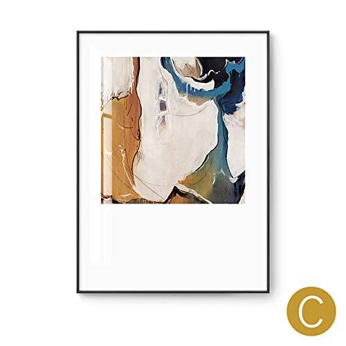 Aluminium Frame Sofa (YB Aluminium-Rahmen für Wohnzimmer, dekoratives Gemälde, Sofa, Wandgemälde, abstrakte Kunst, Triptychon, nordischer Stil, C, 70x100cm_(aluminum_alloy_frame))