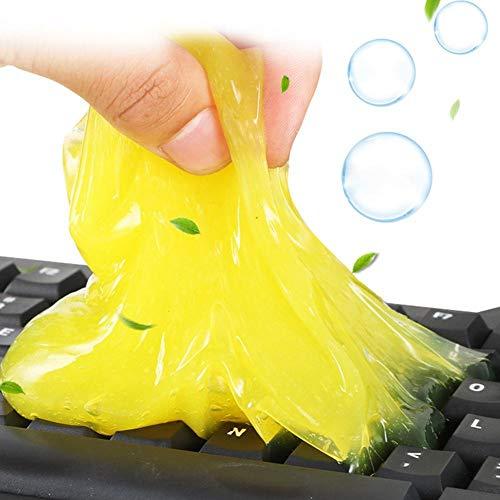 Rich-home Tastatur Reinigung Gel, 1 Stück Universal Tastatur Reinigungsgel Keyboard Cleaner Gel für PC Tablet Laptop-Tastaturen, Autoventilatoren, Drucker, Kameras, Taschenrechner, 80g