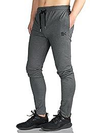 Broki Uomo Zip Jogger pantaloni casuali palestra fitness Pantaloni di tuta slim fit Chino Pantaloni felpati